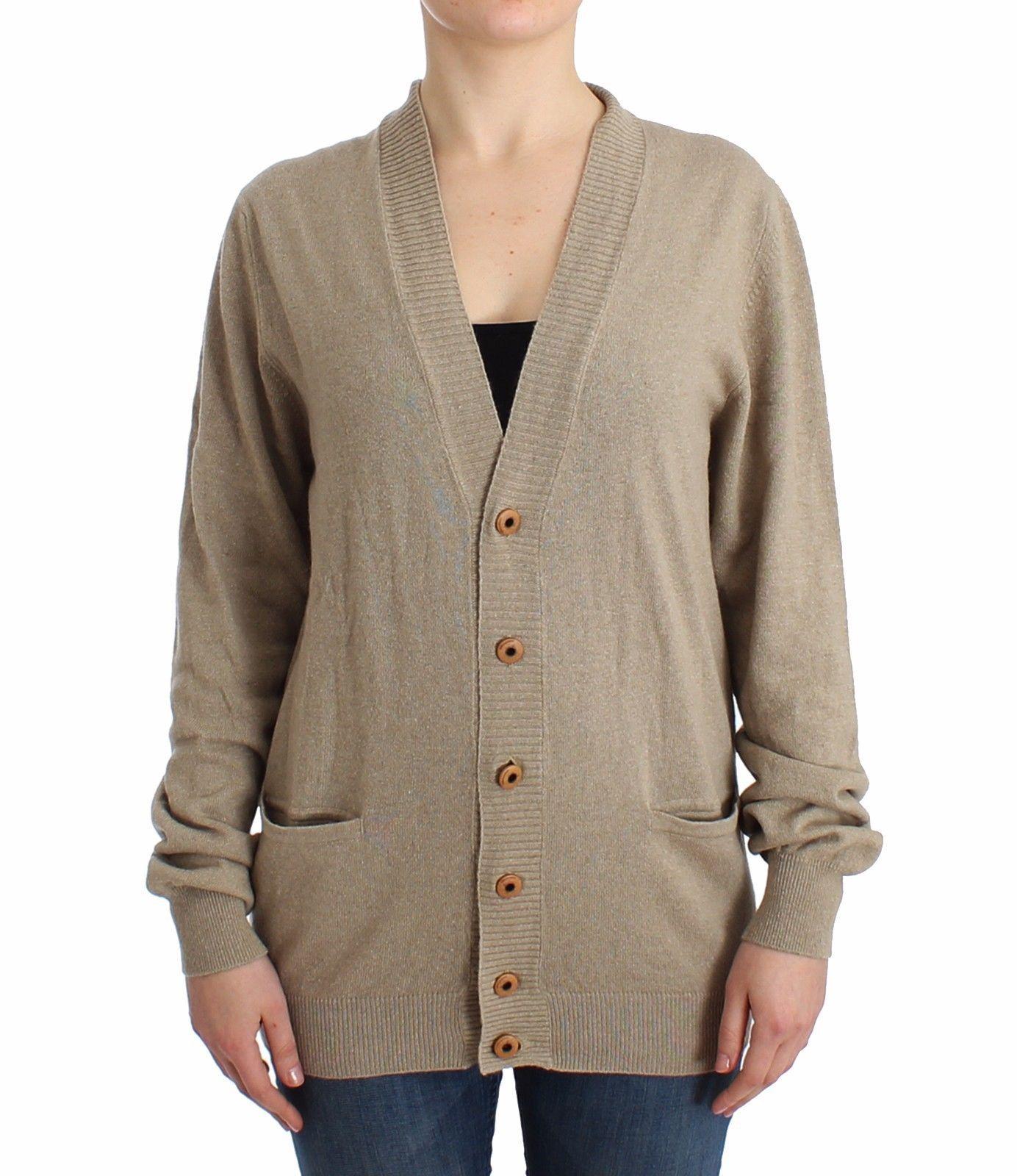 Ermanno Scervino Beige Cardigan Wool Cashmere Sweater Knit