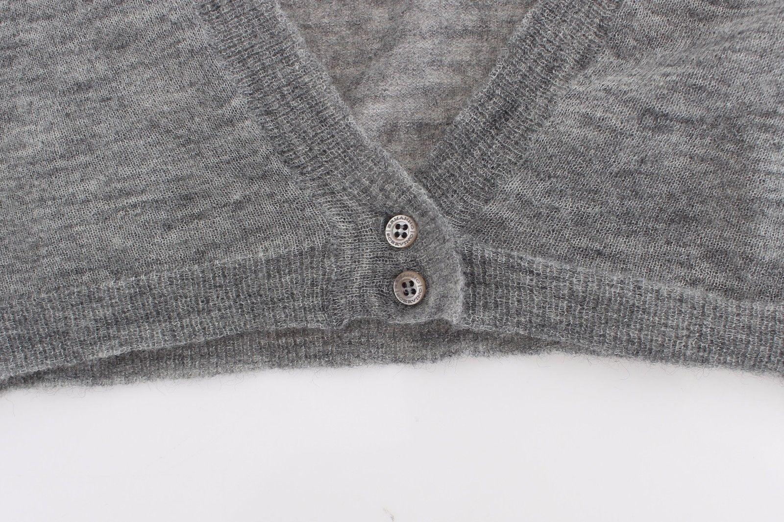 Ermanno Scervino Lingerie Knit Gray Bolero Sweater Cardigan