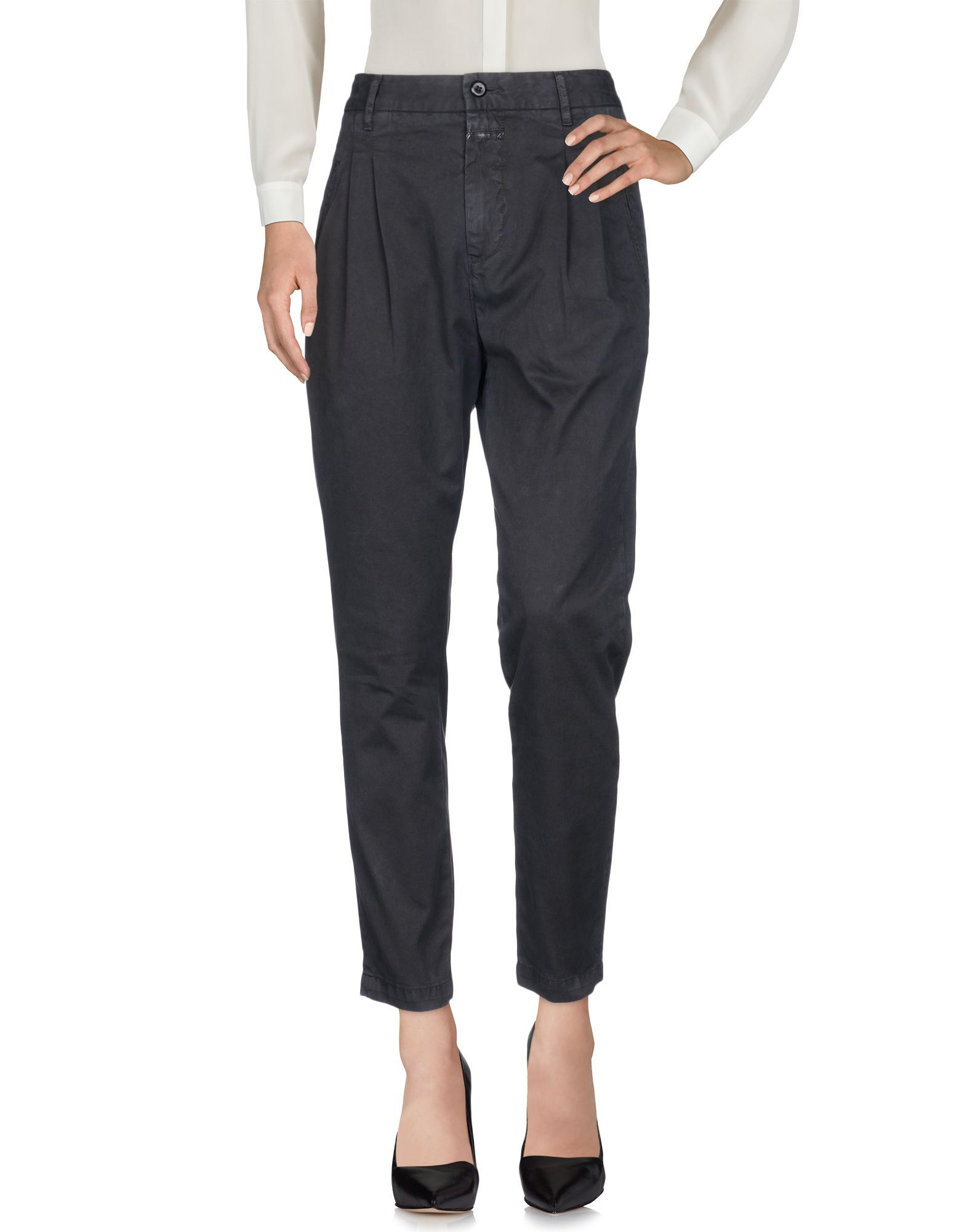 TROUSERS Closed Black Woman Cotton