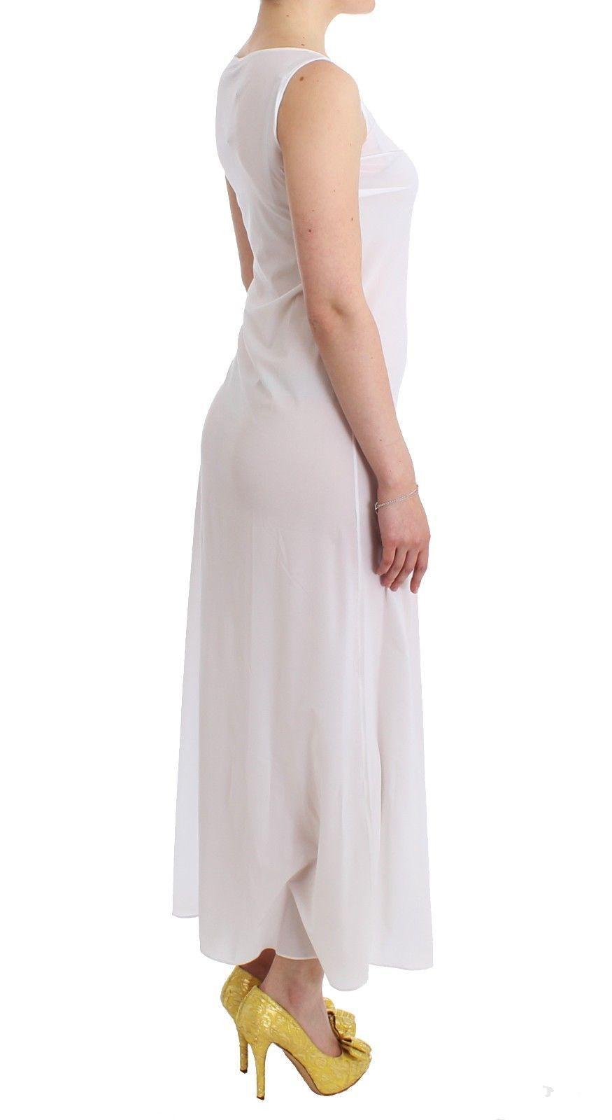 Ermanno Scervino Beachwear White Long Maxi Dress Kaftan Full