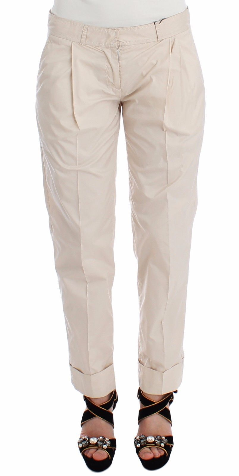 Ermanno Scervino Beige Chinos Casual Dress Pants Khakis