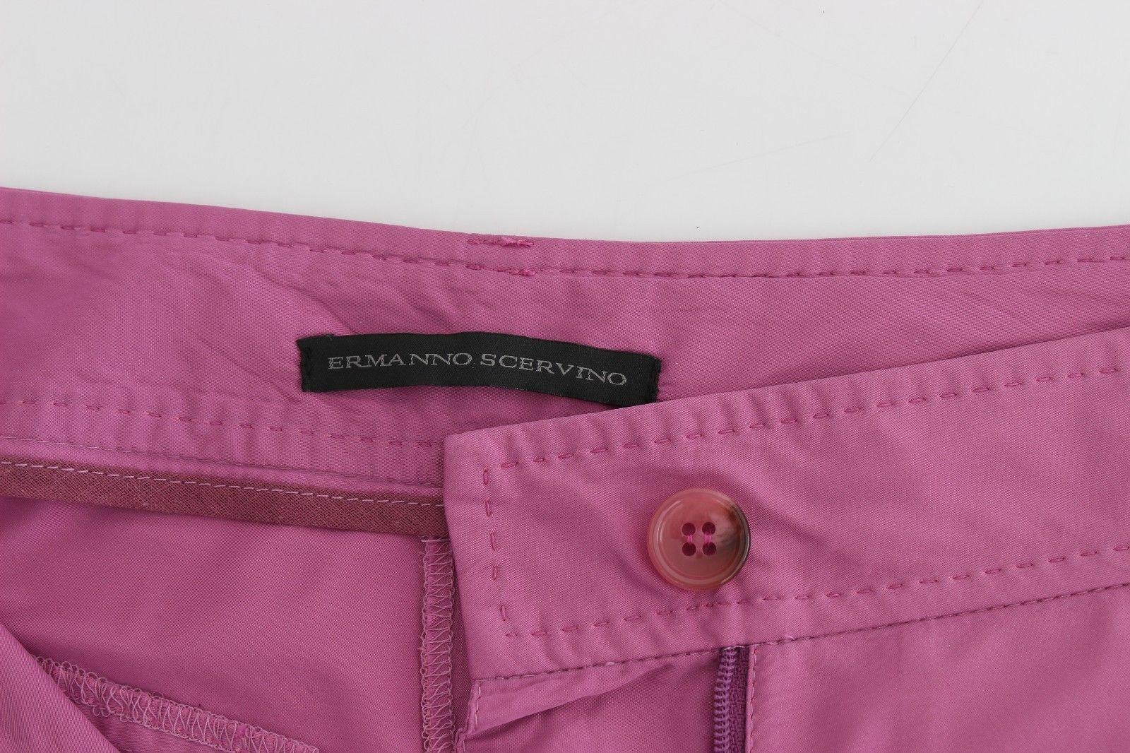 Ermanno Scervino Purple Chinos Casual Dress Pants Khakis
