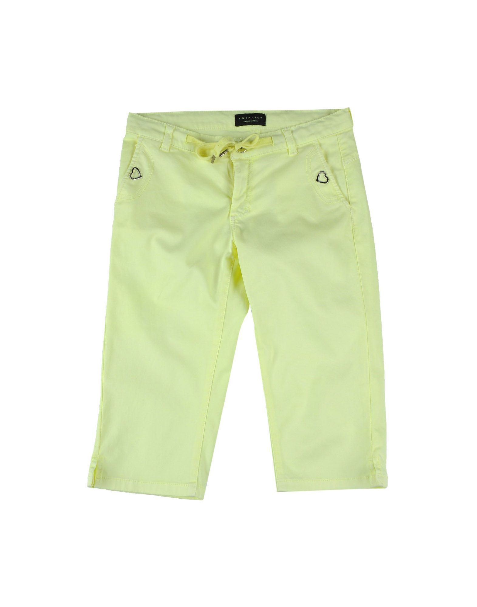 TROUSERS Twinset Acid green Girl Cotton