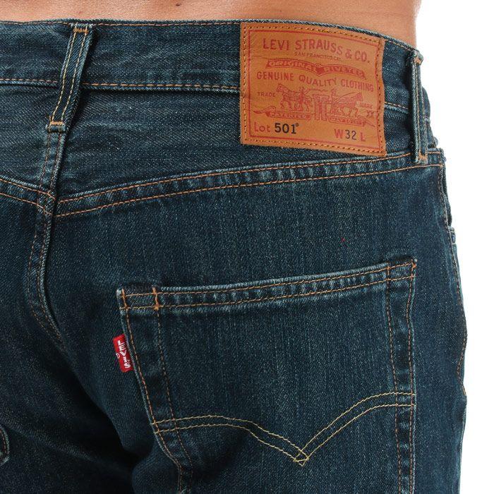 Men's Levis 501 Hemmed Shorts in Denim