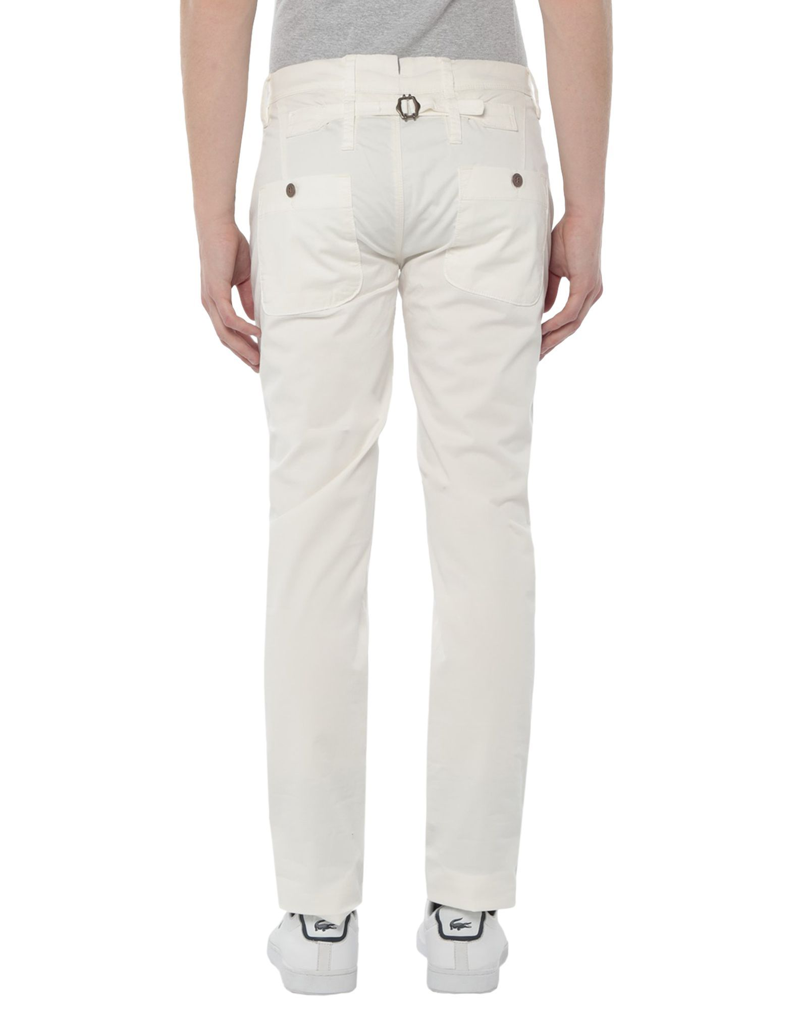 Siviglia White White Cotton Chino Trousers
