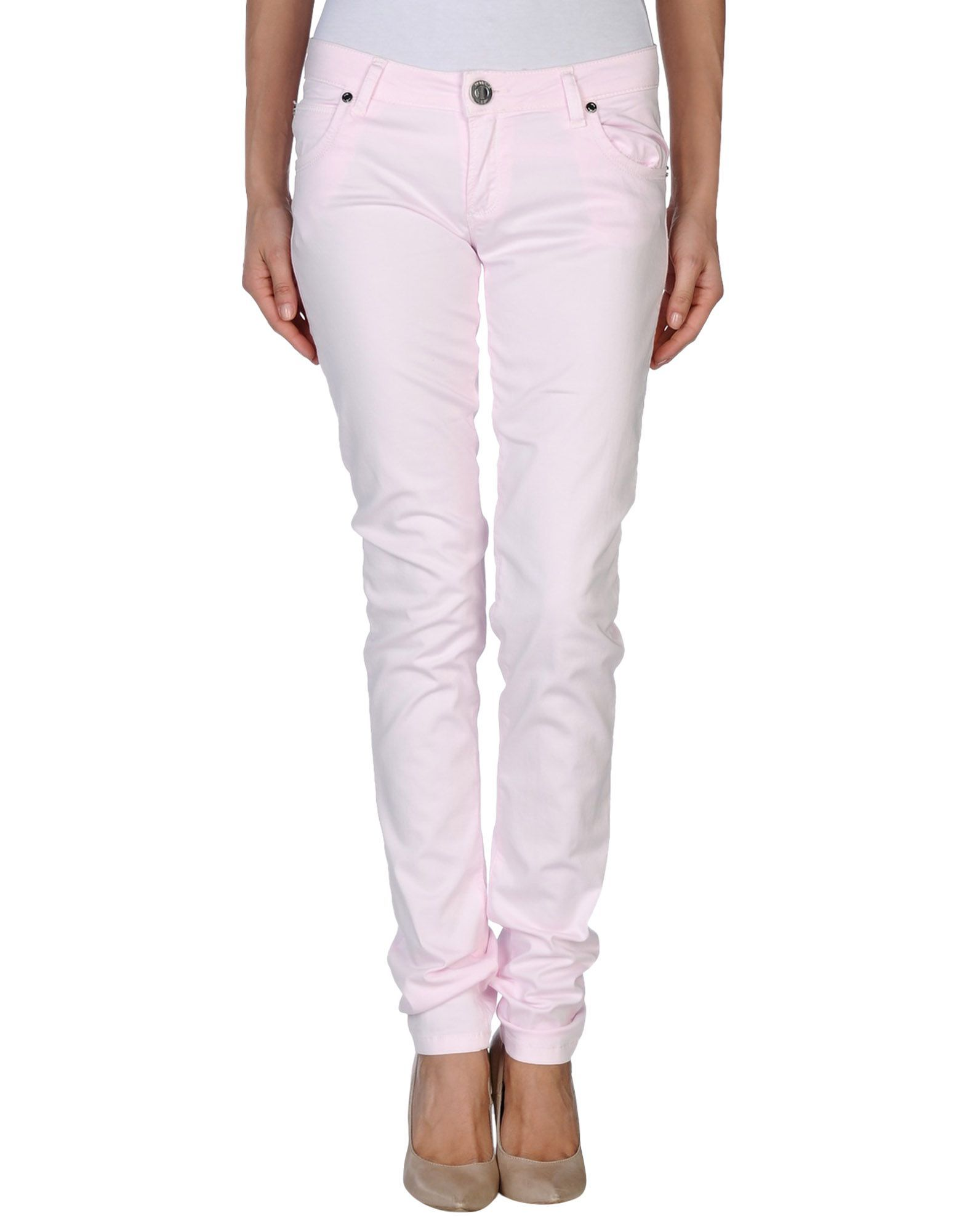 Nenette Woman Casual trousers Pink Cotton