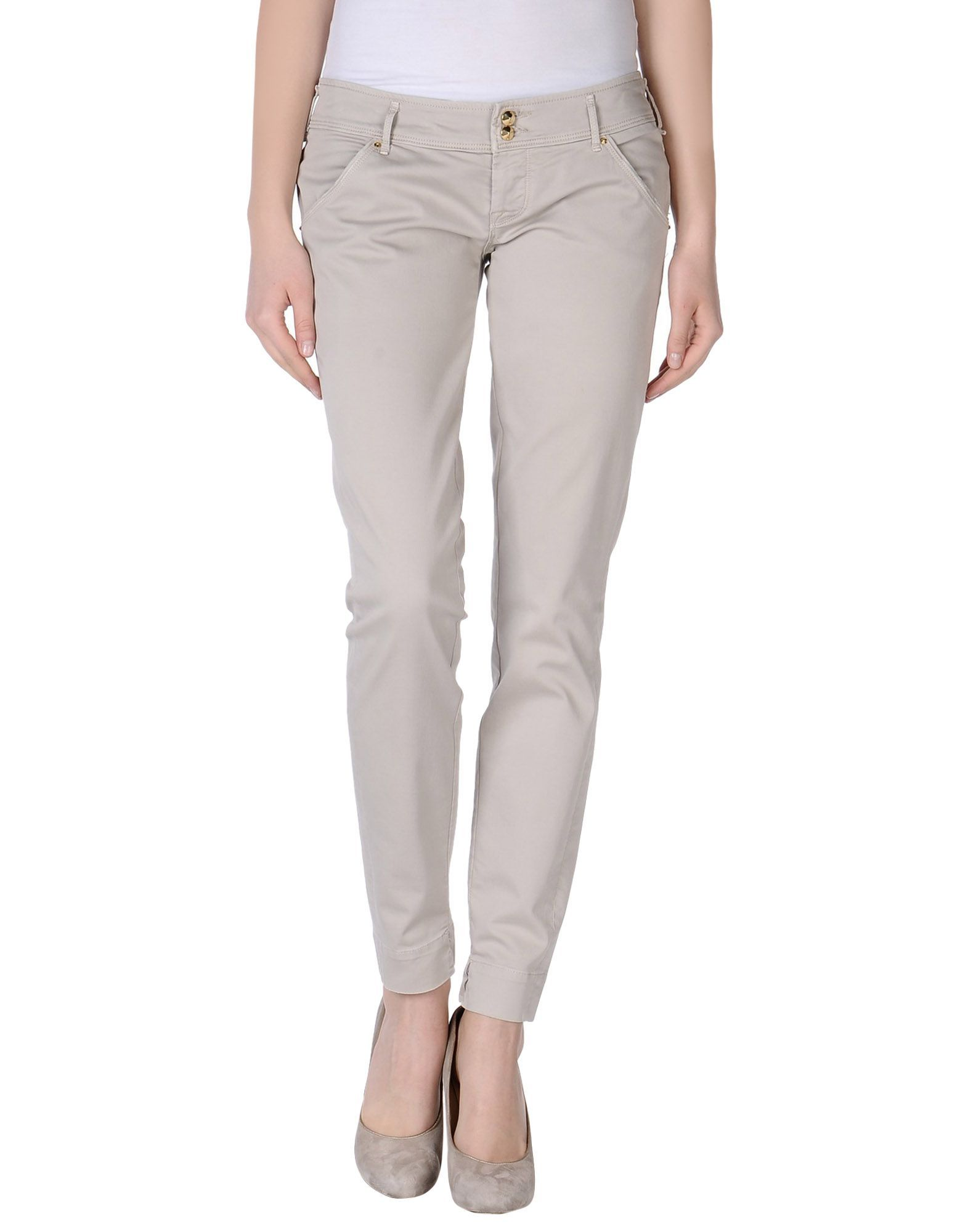 Cycle Light Grey Cotton Trousers