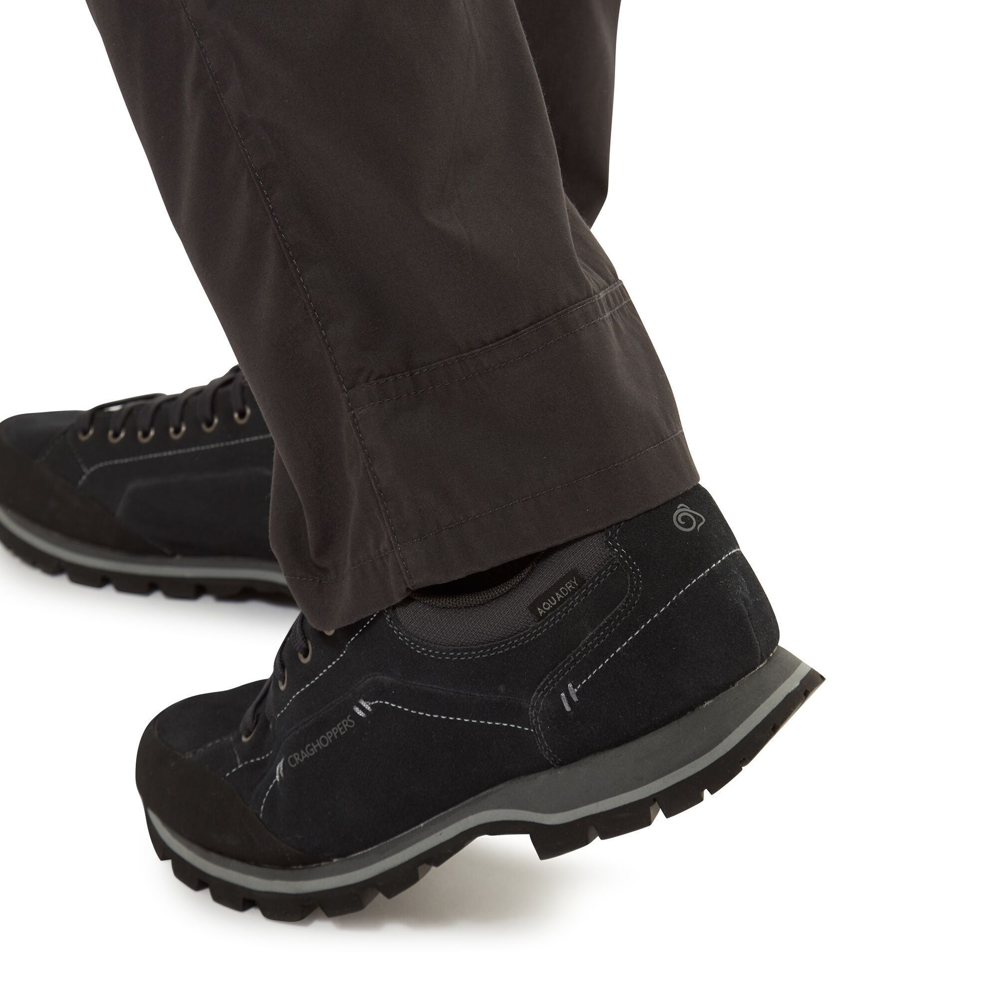 Craghoppers Mens Kiwi Boulder Slim Trousers (Black Pepper)