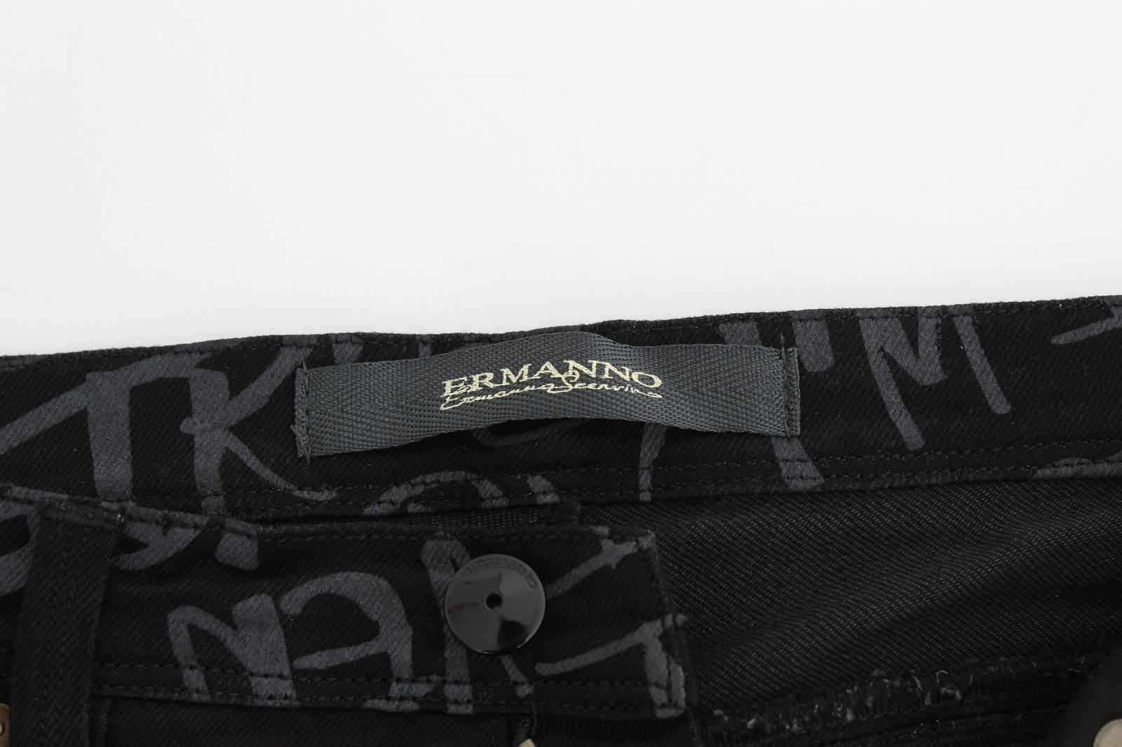 Ermanno Scervino Black Slim Jeans Denim Pants Skinny Stretch