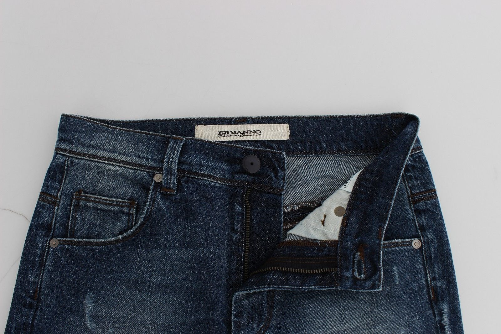 Ermanno Scervino Blue Straight Jeans Denim Pants High Waist