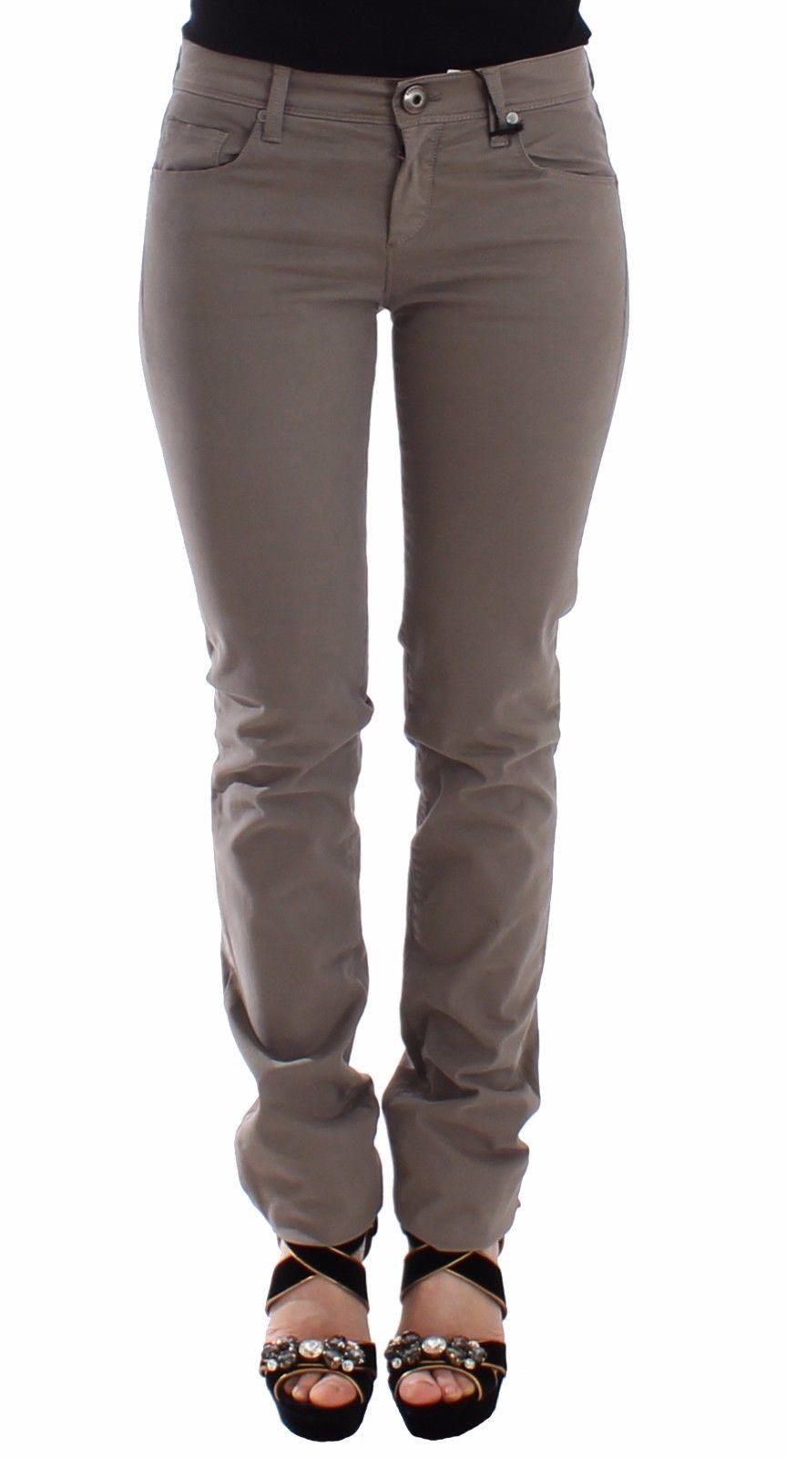 Ermanno Scervino Taupe Beige Slim Jeans Denim Pants Skinny