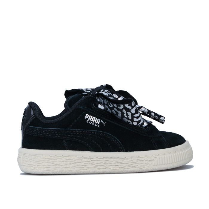 Girl's Puma Infant Suede Ath Luxe Trainers in Black