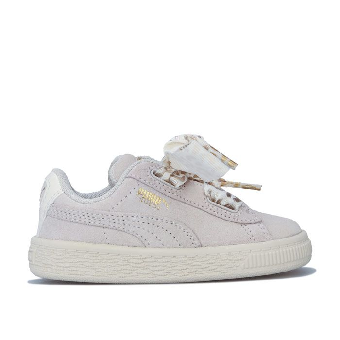 Girl's Puma Infant Suede Ath Luxe Trainers in Off White