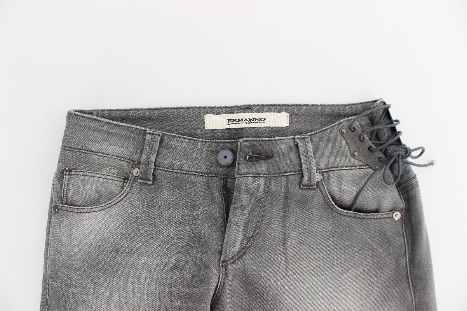 Ermanno Scervino Gray Slim Jeans Denim Pants Skinny Stretch