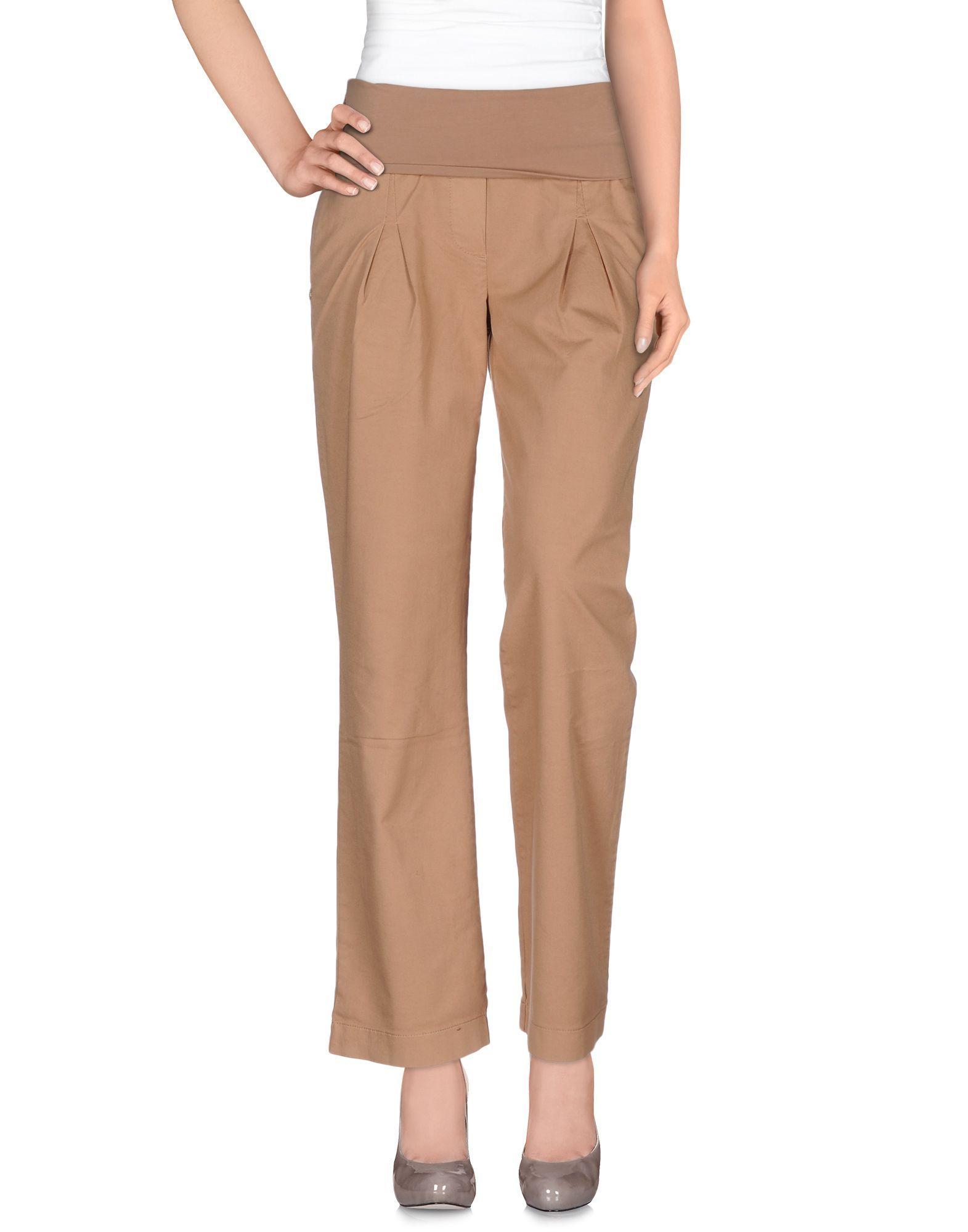 Manila Grace Sand Cotton Trousers