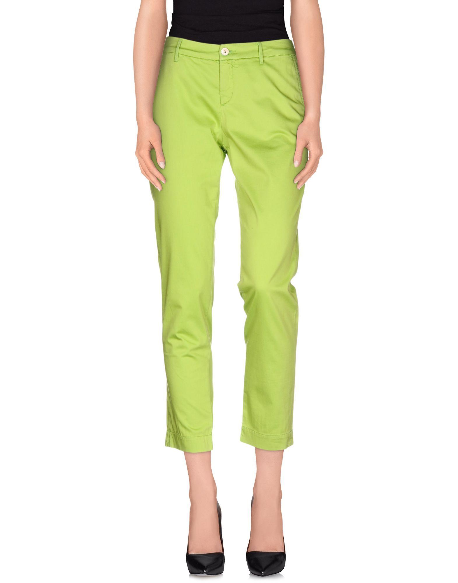 TROUSERS Woman Jeckerson Green Cotton