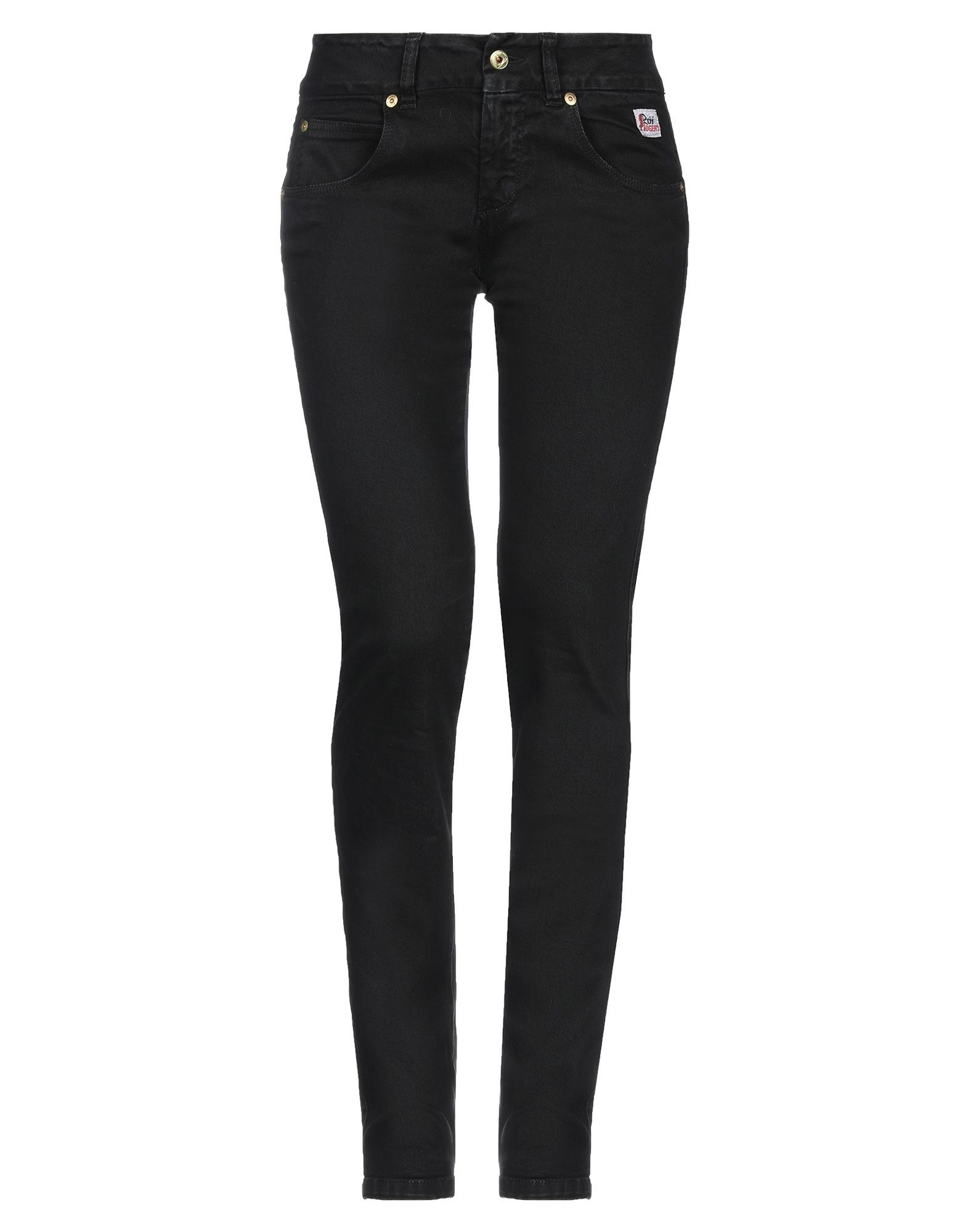 Roÿ Roger's Black Cotton Straight Leg Jeans