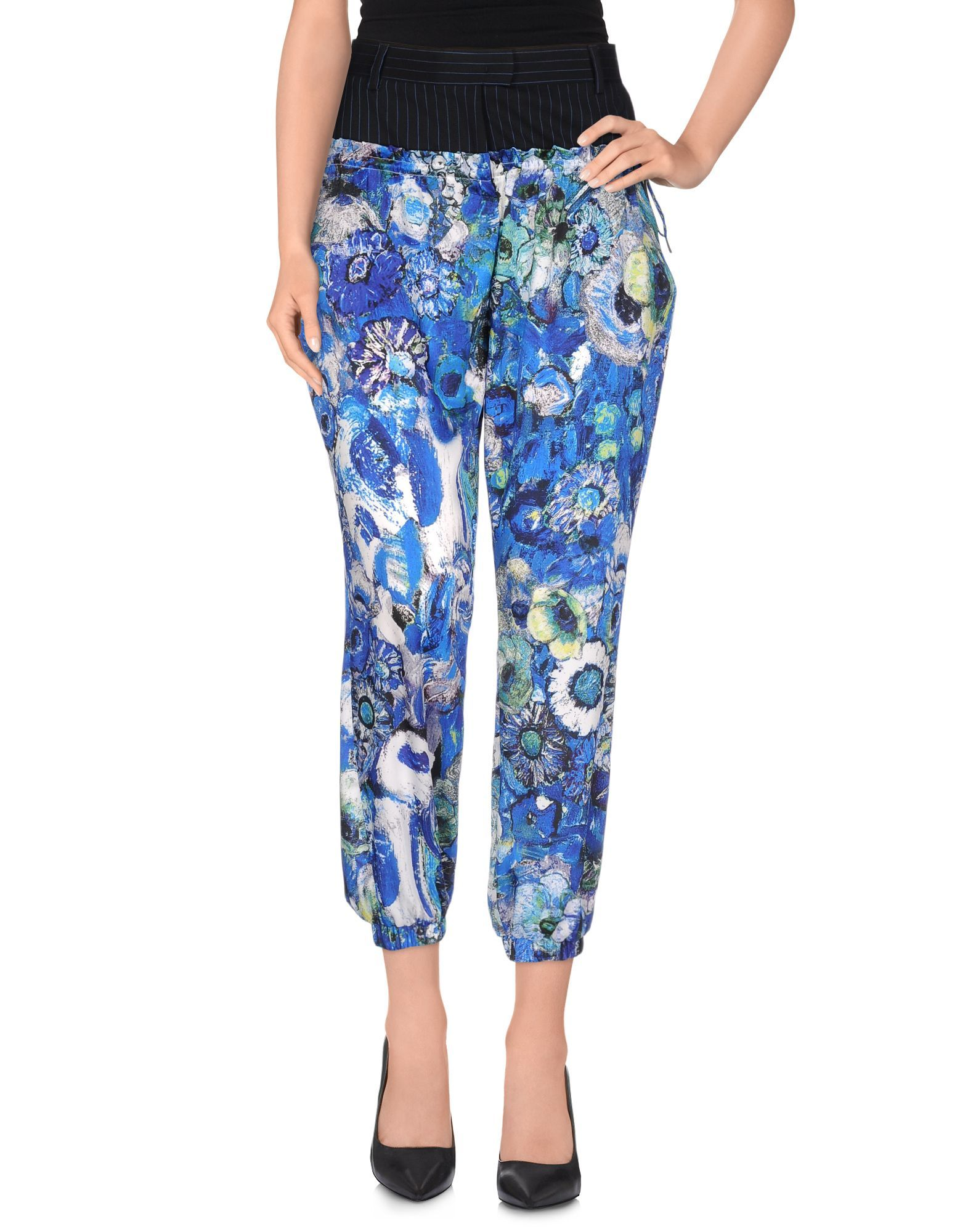 Just Cavalli Blue Casual Trousers