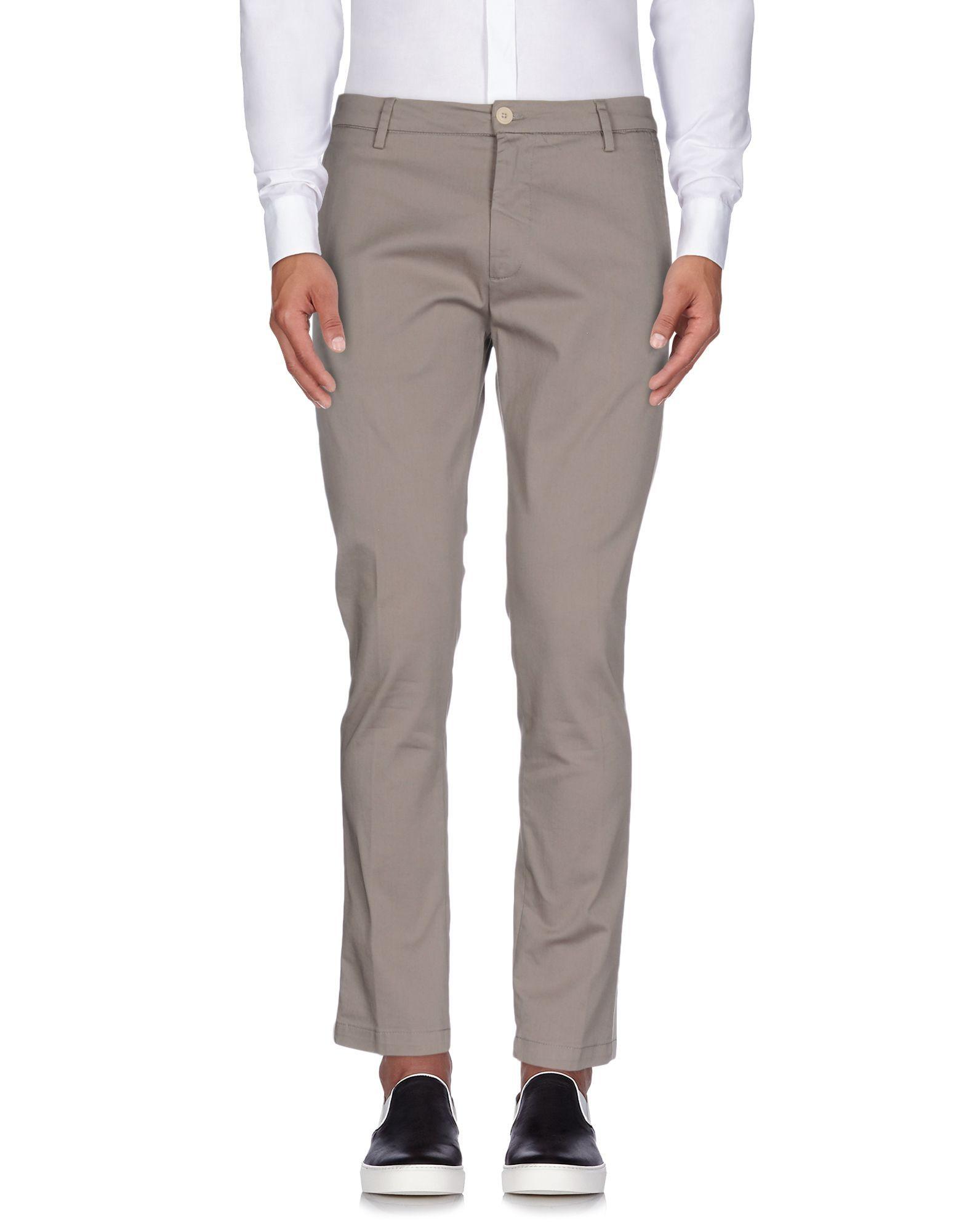 TROUSERS Low Brand Grey Man Cotton