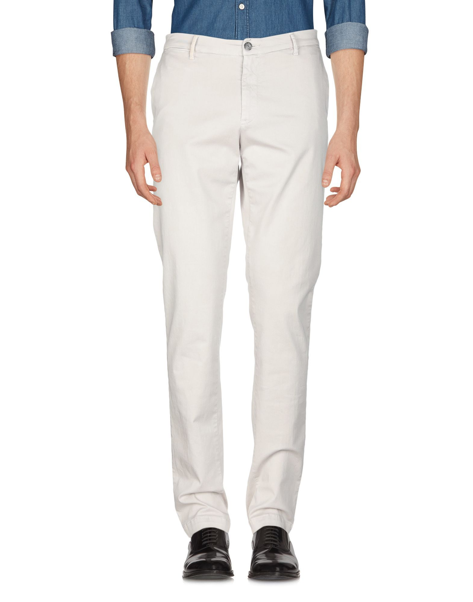Trussardi Jeans Light Grey Cotton Trousers