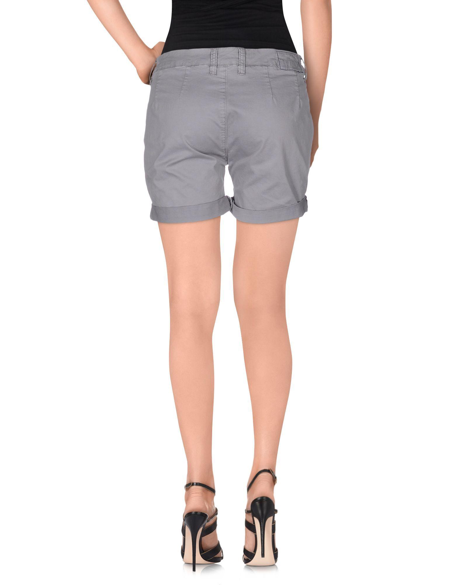 Sun 68 Grey Cotton Shorts