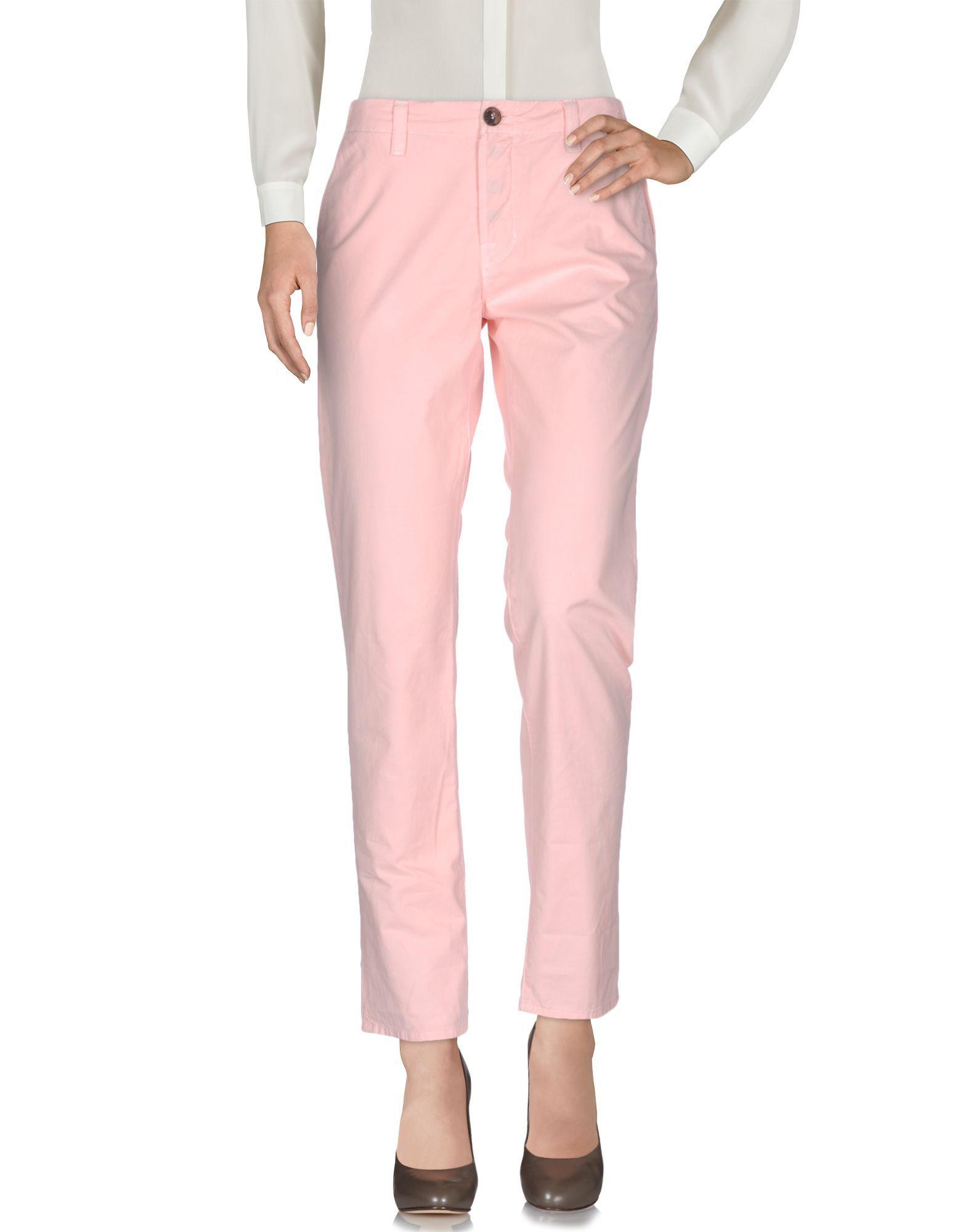 TROUSERS J Brand Pink Woman Cotton