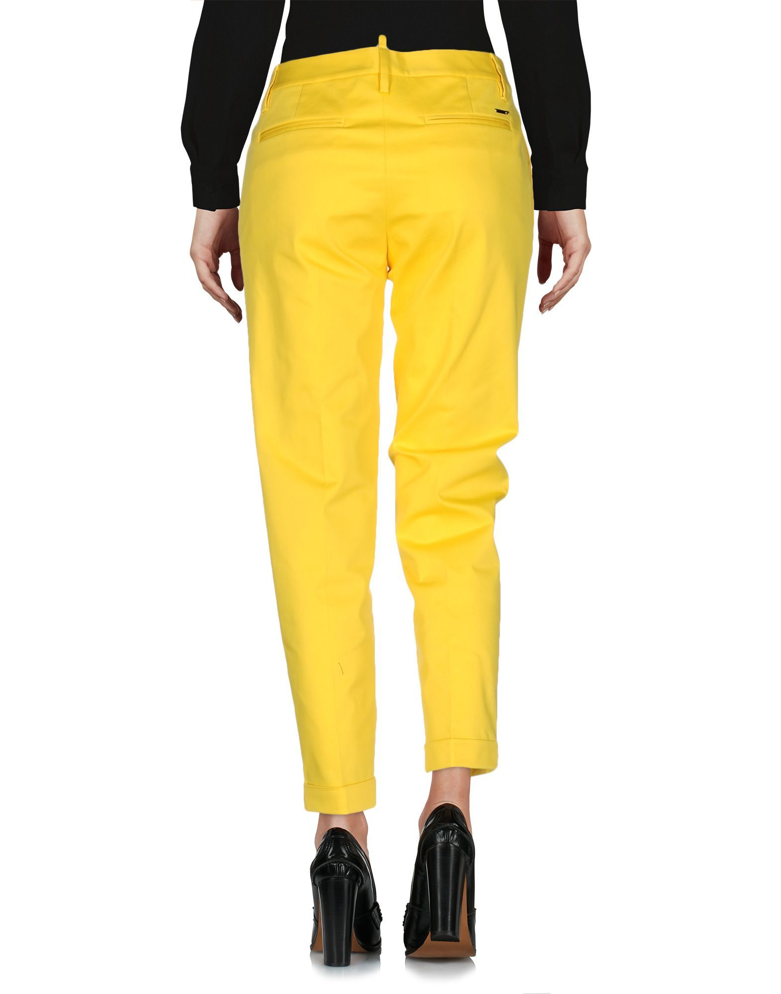 TROUSERS Dsquared2 Yellow Woman Cotton