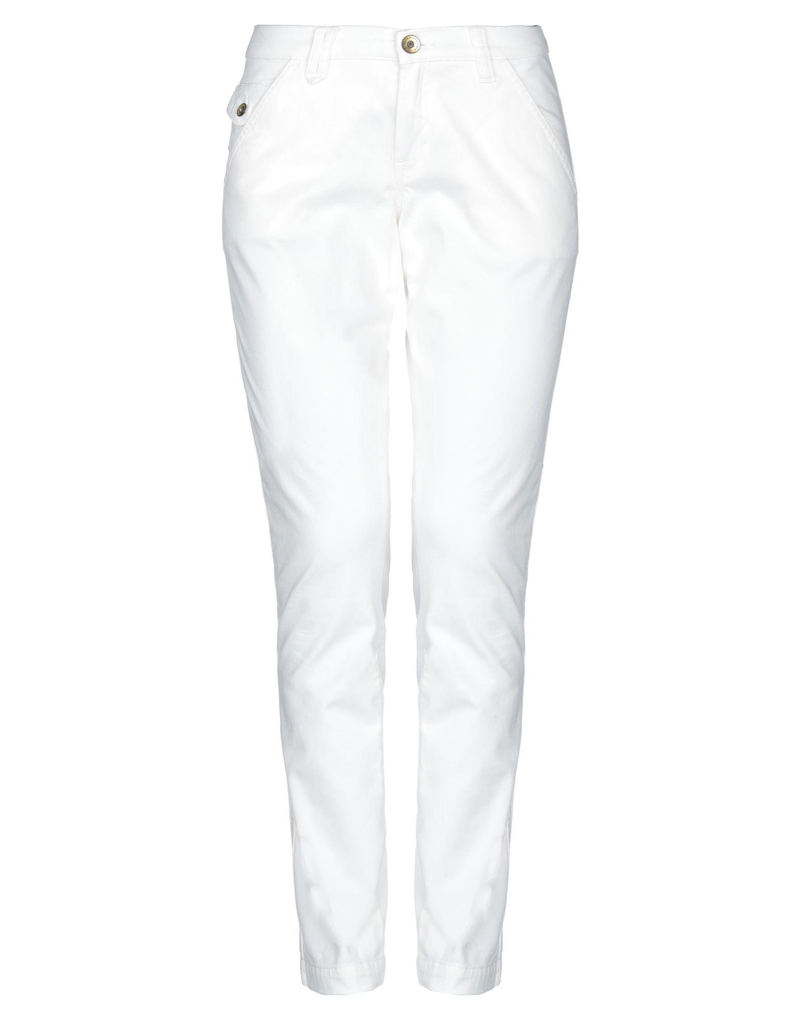 Peak Performance White Cotton Trousers