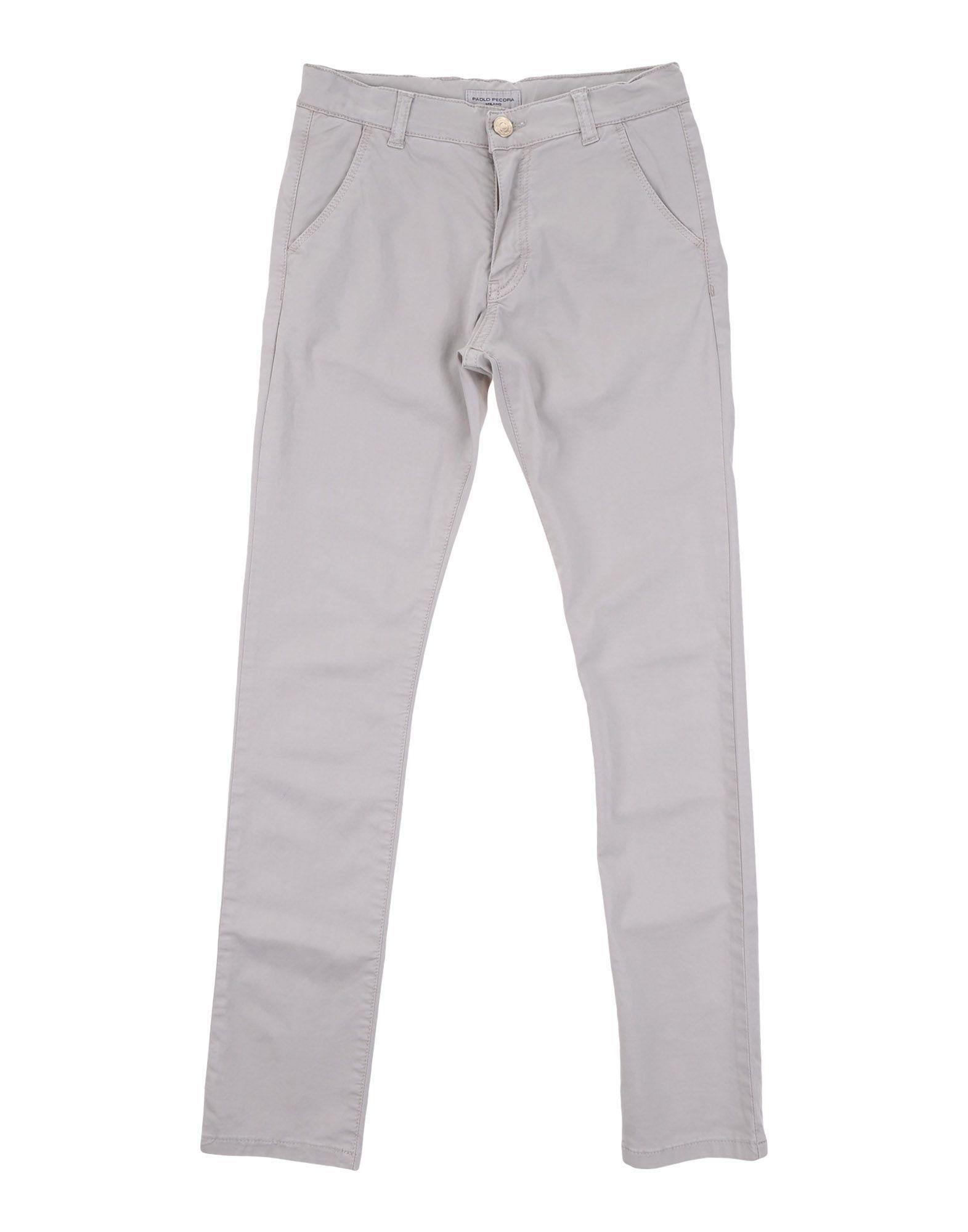 Paolo Pecora Boy Casual trousers Light grey Cotton