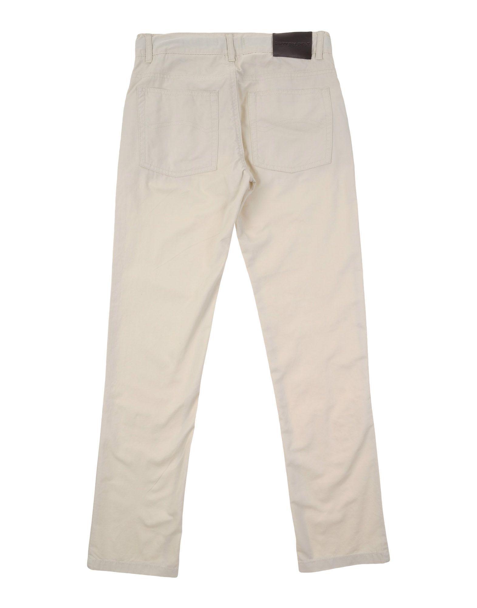 TROUSERS Cotton Belt Ivory Boy Cotton