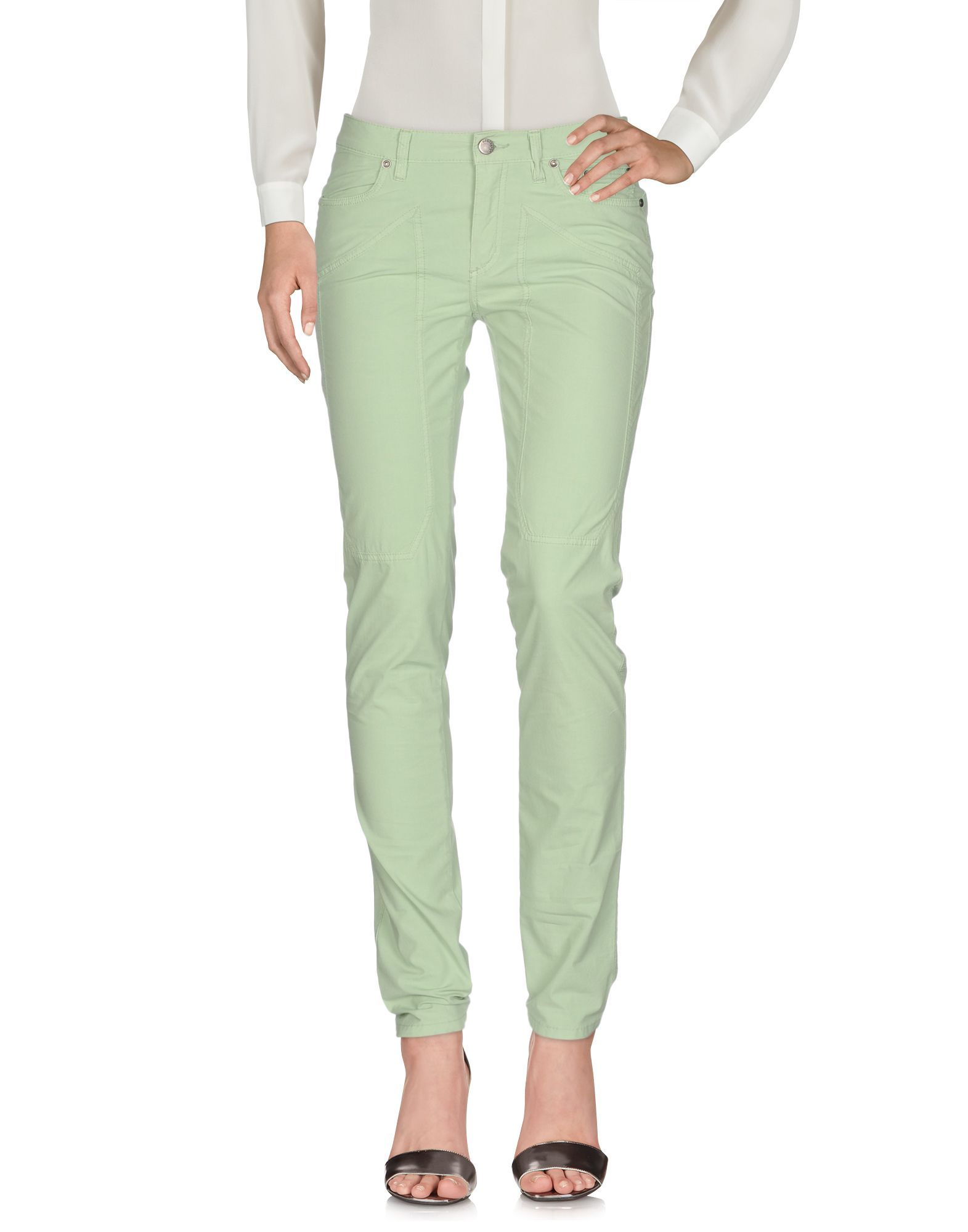 TROUSERS Jeckerson Light green Woman Cotton