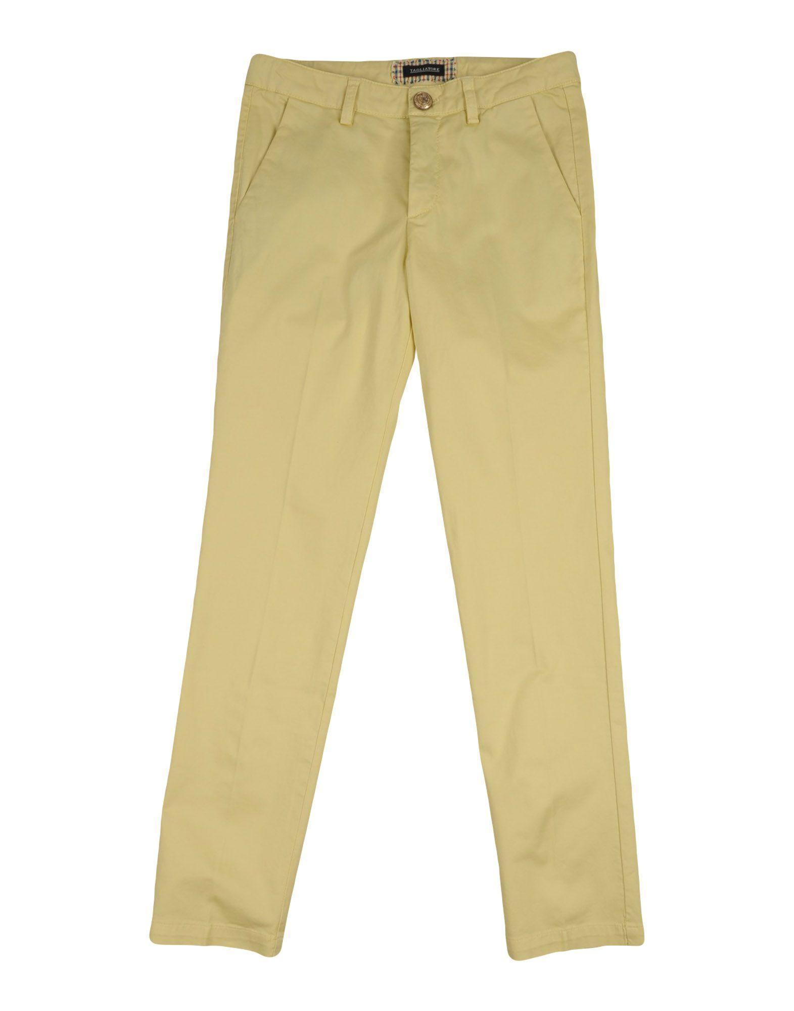 TROUSERS Tagliatore Yellow Boy Cotton