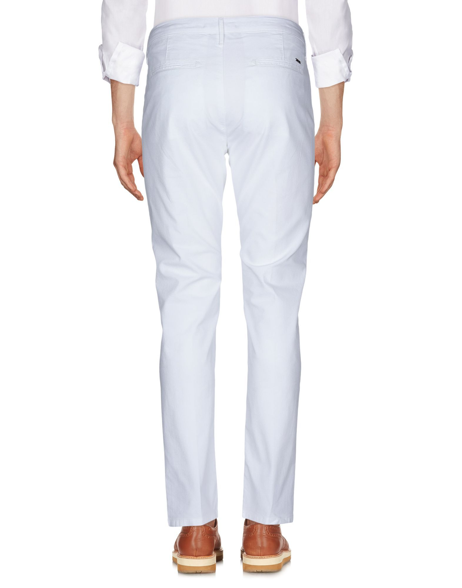 Oaks White Cotton Tapered Leg Chino Trousers