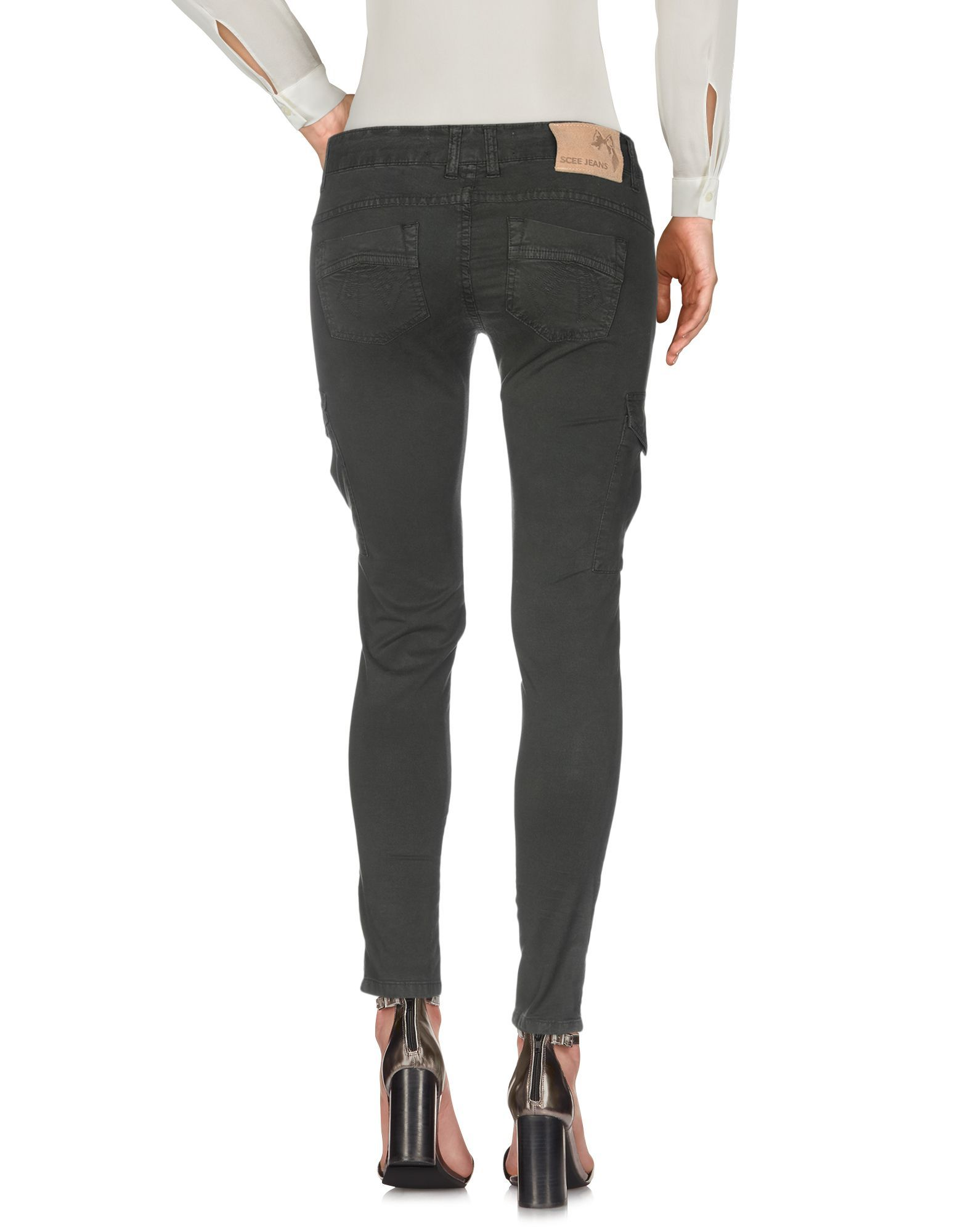 Scee By Twinset Dark Green Cotton Trousers