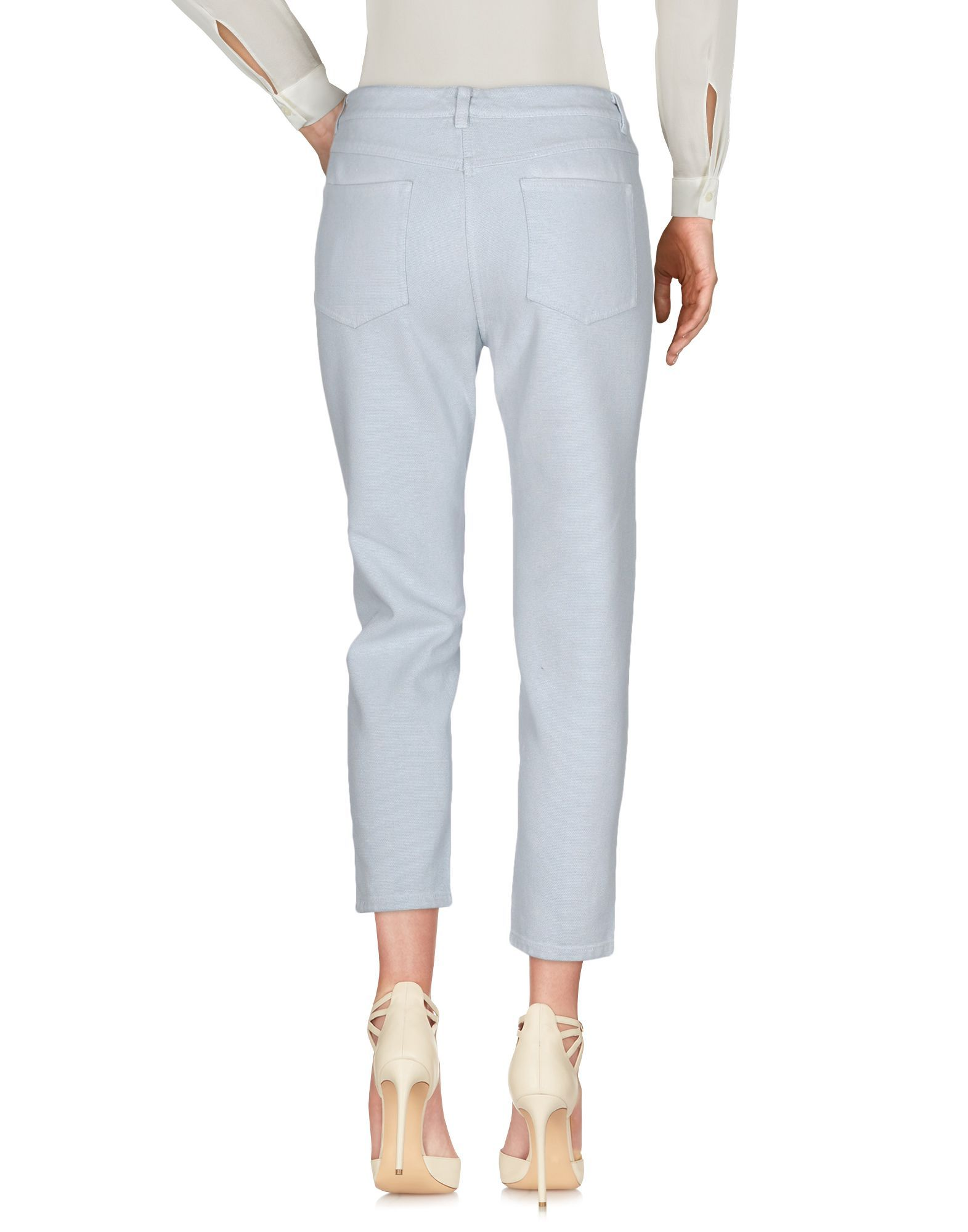 3.1 Phillip Lim Sky Blue Cotton Tapered Leg Trousers