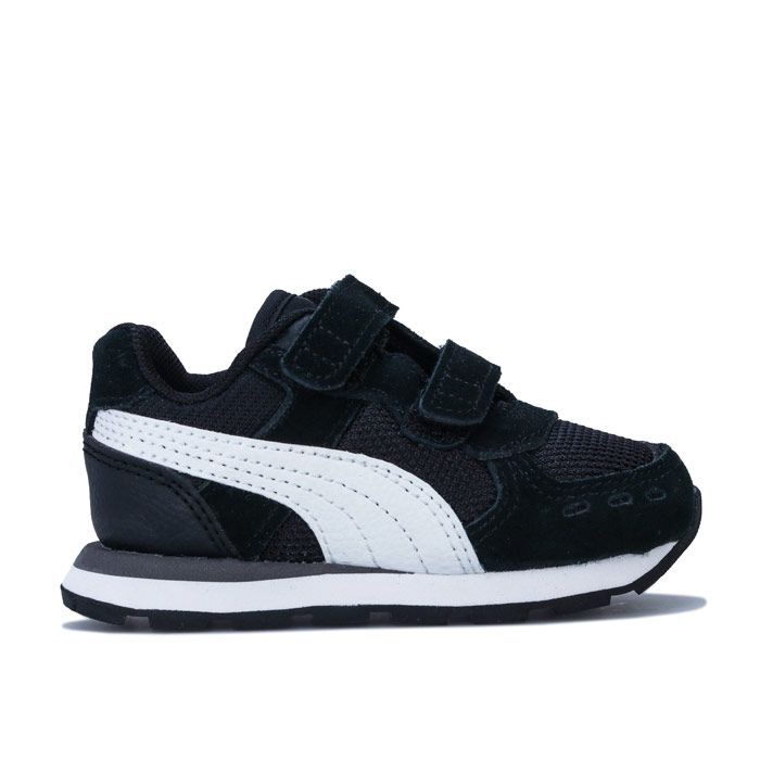 Boy's Puma Infant Vista V Trainers in Black