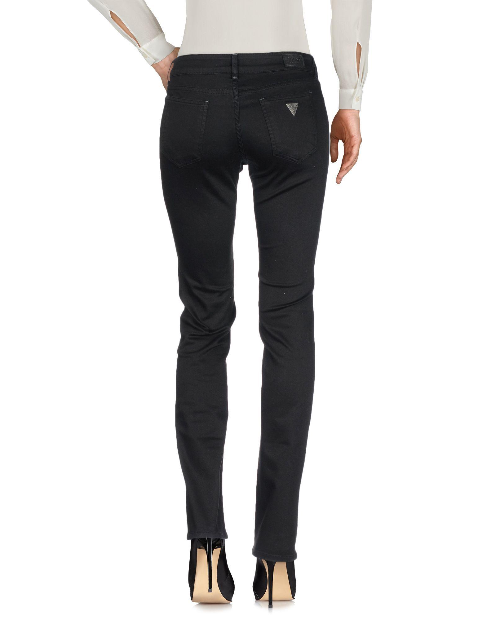 Guess Black Cotton Trousers
