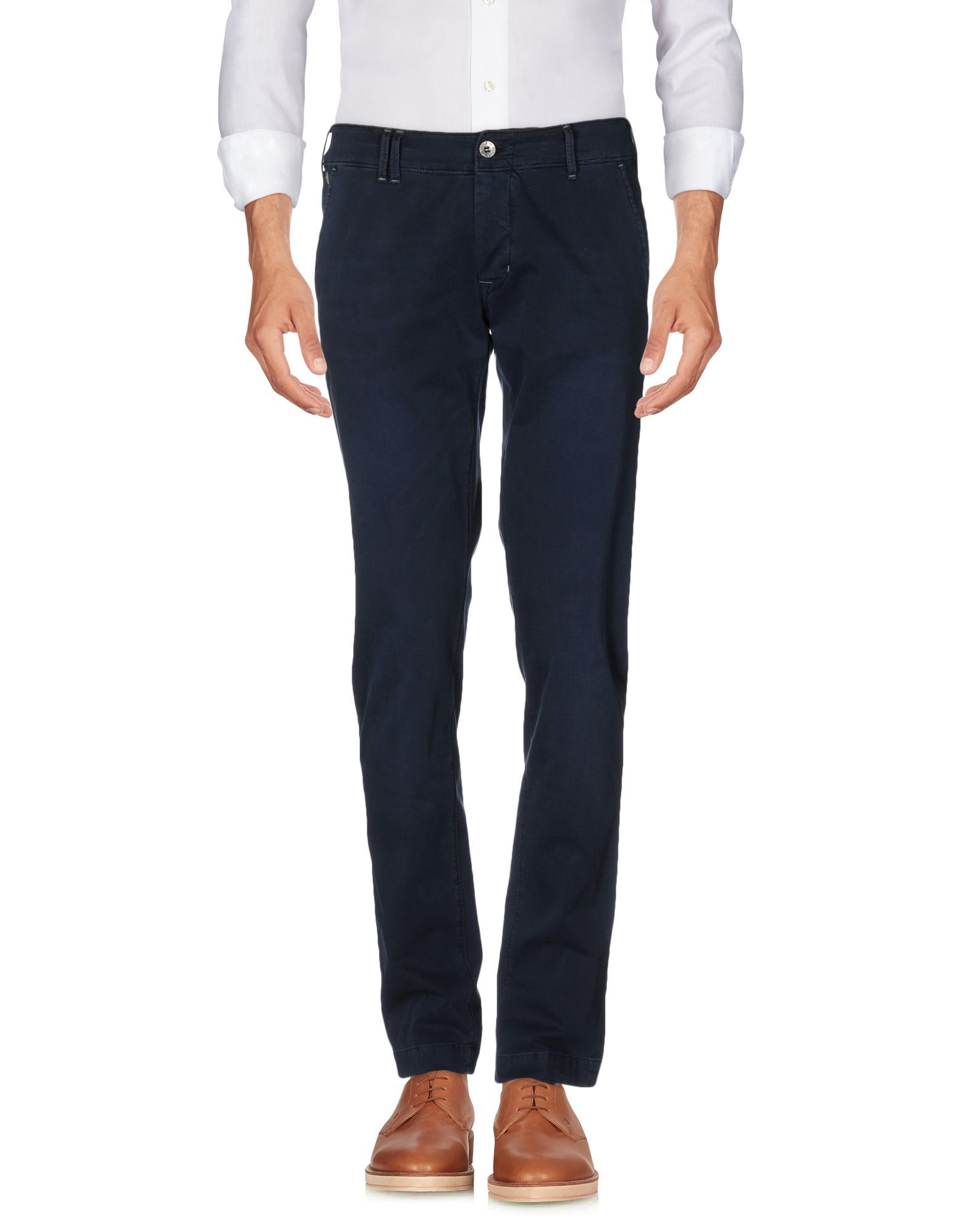 TROUSERS Man Cycle Dark blue Cotton