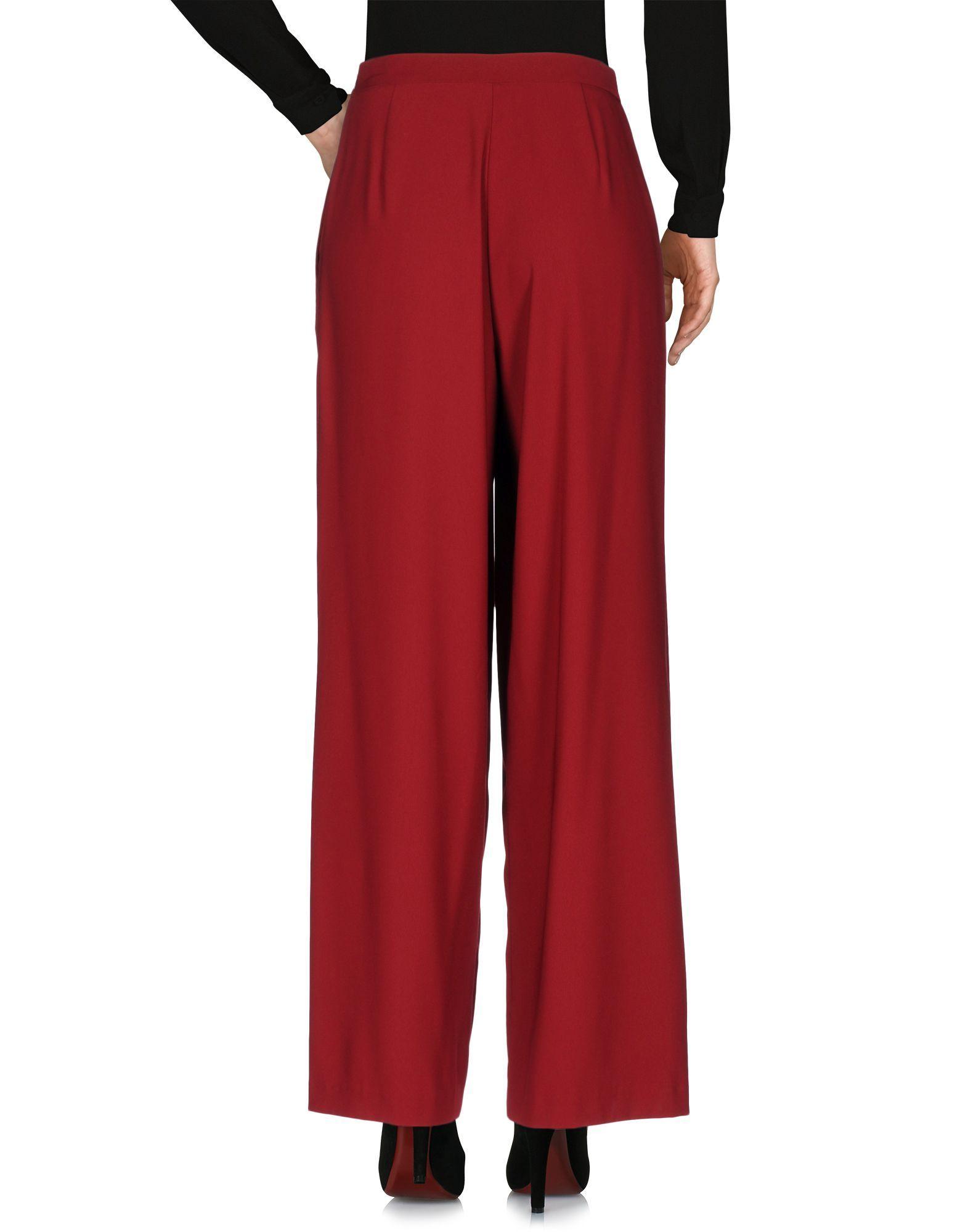 Jucca Maroon Wide Leg Trousers