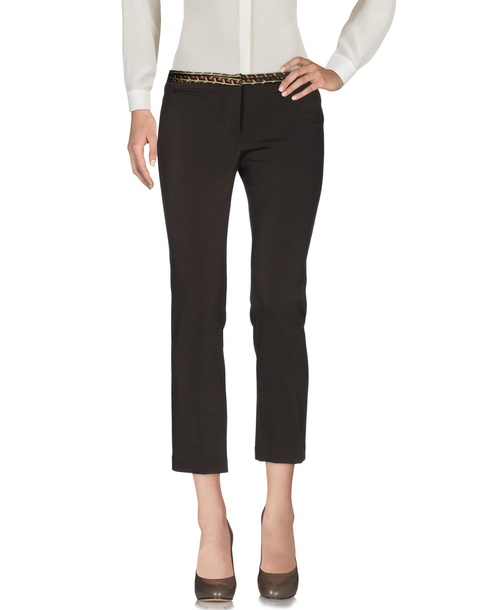 TROUSERS Teresa Dainelli Dark brown Woman Polyester