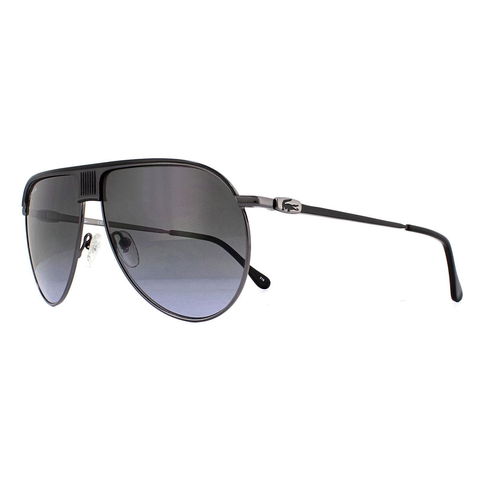 Lacoste Sunglasses L200S 001 Dark Ruthenium Black Grey