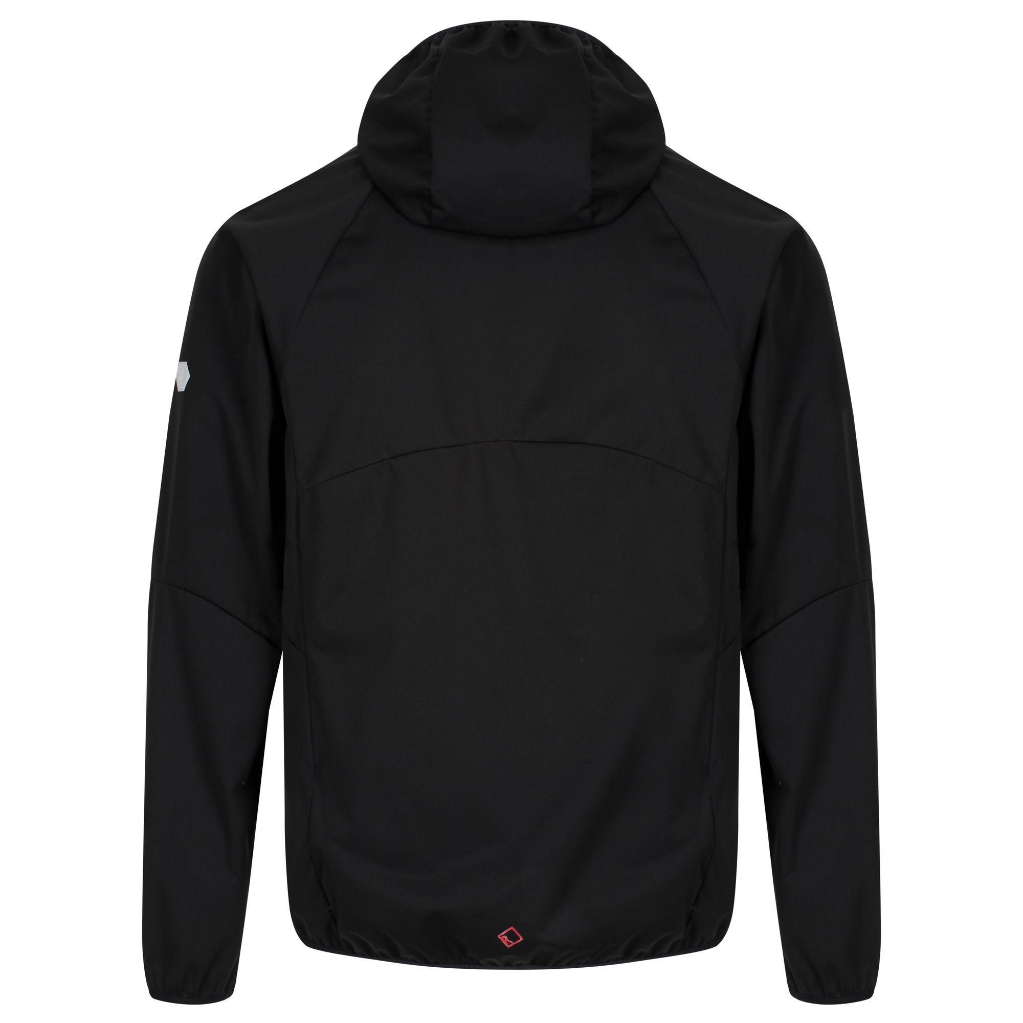 Regatta Mens Tarvos II Hooded Softshell Jacket (Black/Seal Grey)