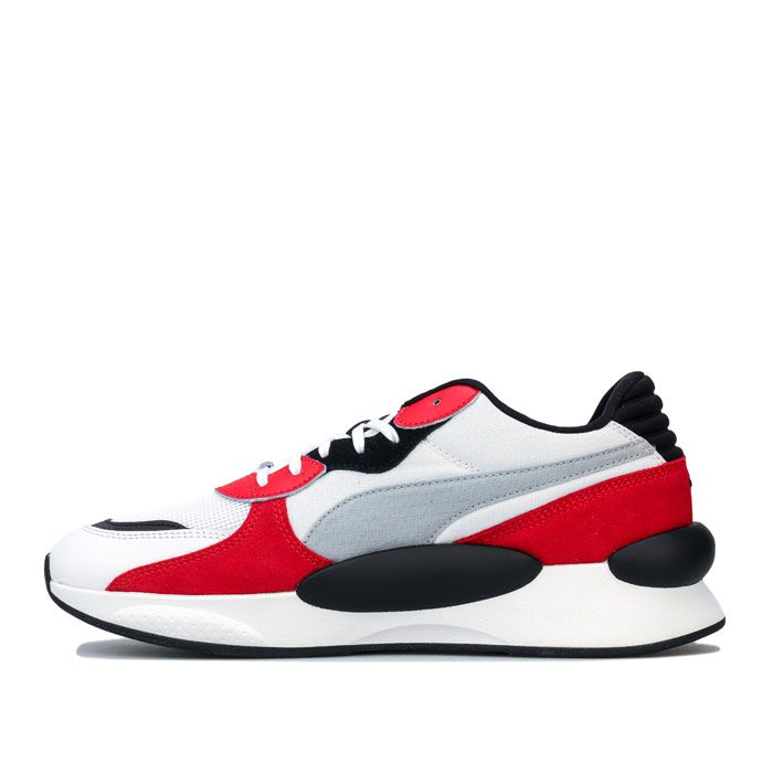 Men's Puma RS 9.8 Space Trainers in White red