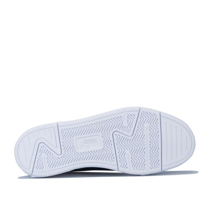 Boy's Puma Junior Caracal Trainers in White Navy