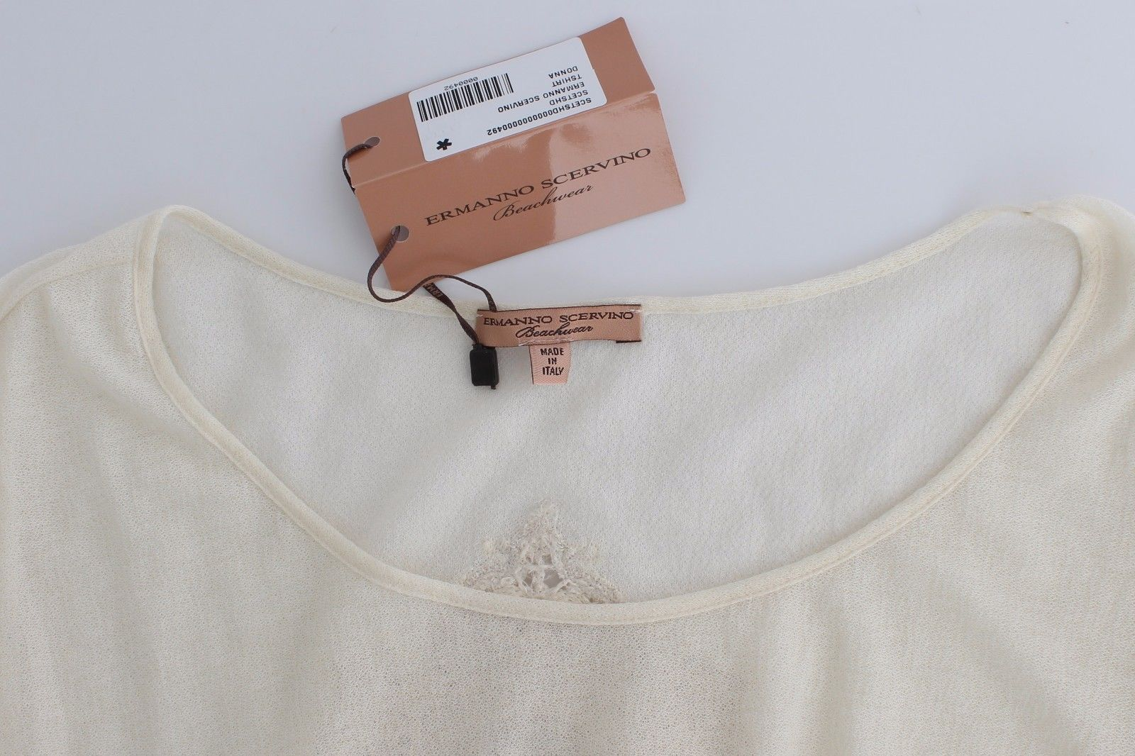 Ermanno Scervino Beachwear White T-Shirt Top Blouse