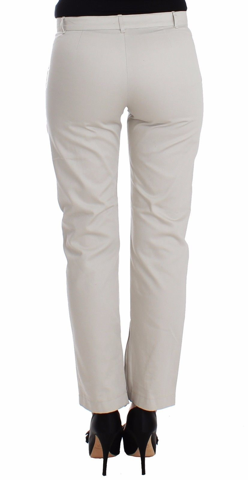 Ermanno Scervino Beige Dress Pants Slim Skinny Leg Cotton