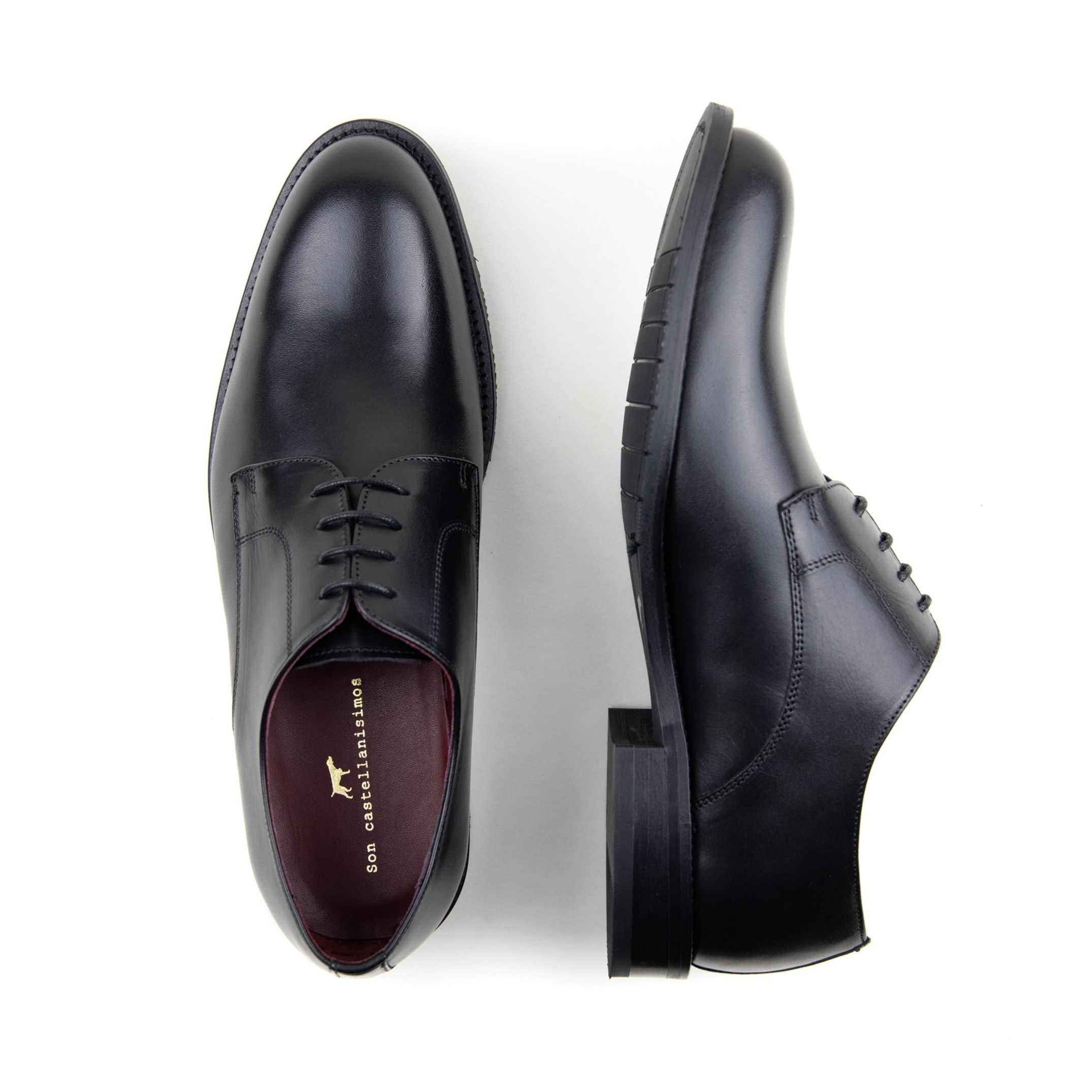 Lace Up Leather Shoes Men