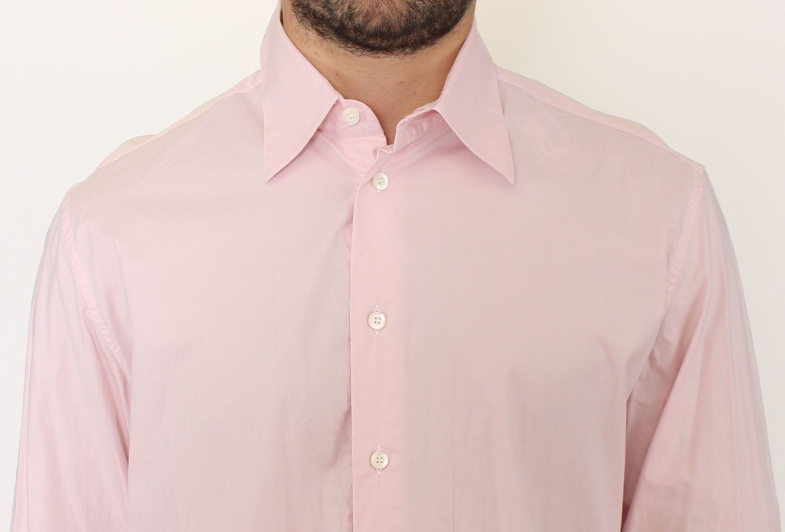 Ermanno Scervino Pink Cotton Casual Long Sleeve Long Shirt