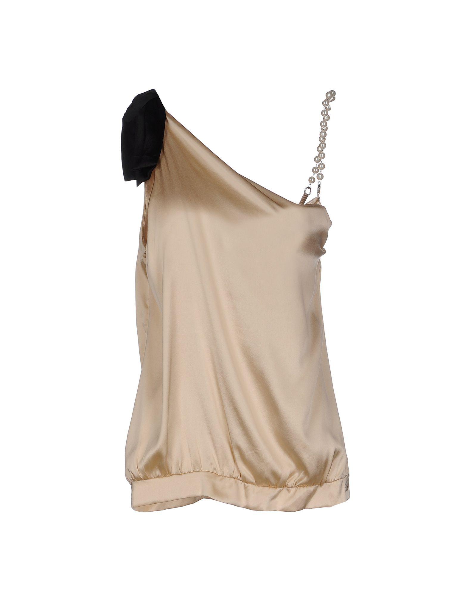 Cristinaeffe Collection Beige Silk Camisole