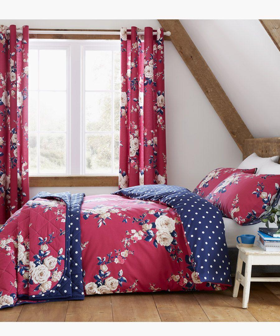 Canterbury plum cotton blend 220x230cm bedspread
